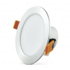 Oprawa podtynkowa 12W LED VENUS 810 lumenów srebrny połysk 3653 POLUX/SANICO