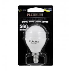 Żarówka POLUX LED G45 6,5W gwint E14 560lm ciepła/żółta barwa światła POLUX/SANICO - wysyłka 24h (na stanie 5 sztuk)