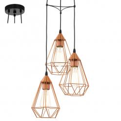 Lampa wisząca 3X60W E27 TARBES 94196 EGLO