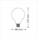 Żarówka dekoracyjna gwint E27 4W LED Amber 304520 POLUX/SANICO