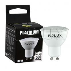 Żarówka LED SMD 6W 48W gwint GU10 500lm ciepła/żółta barwa światła POLUX/SANICO- wysyłka 24h (na stanie 22 sztuki)