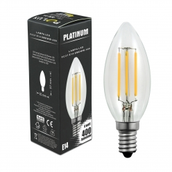Żarówka dekoracyjna LED gwint E14 4,5W  400 lumenów POLUX/SANICO